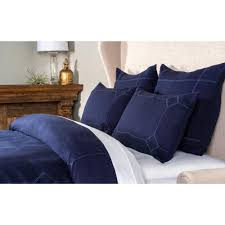 heirloom linen indigo queen duvet cover v140767 the home depot