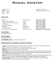 theater resume template musical theater resume template 6 free of acting sle special