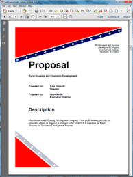federal government grant proposal