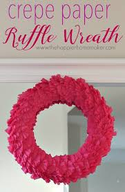 Christmas Crepe Paper Decorations by Crepe Paper Ruffle Wreath