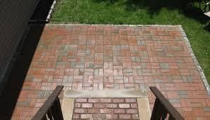 Herringbone Brick Patio Patios