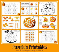 1 1 1 u003d1 pumpkin preschool pack