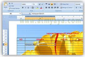 cara membuat tulisan watermark di excel cara print gambar background ms excel cara aimyaya cara semua cara