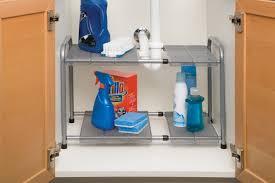 Under Sink Shelves by Amazon Com Seville Classics Expandable Under Sink Shelf With