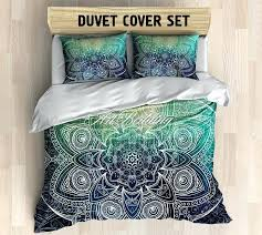 Turquoise And Brown Bedding Sets 3pc Turquoise Dark Brown Paisley Design 300tc Cotton Duvet Cover