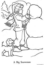 build snowman sff94 coloring pages printable