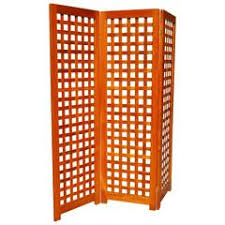 handmade tri fold solid walnut folding screen or room divider for