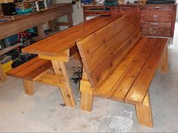bench to picnic table outdoor patio tables ideas