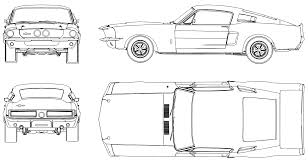 Free Blueprints Mustang Shelby Gt 500 1967 Blueprint Download Free Blueprint For