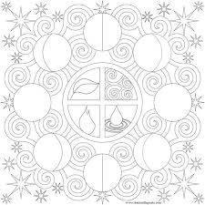 moon phases picture mandala moon mandala coloring pages pattern