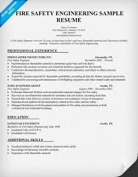 Resume Additional Skills Examples by Download Fire Safety Engineer Sample Resume Haadyaooverbayresort Com