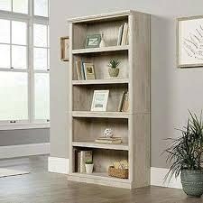 Sauder Premier 5 Shelf Composite Wood Bookcase Sauder Bookcases Home Office Furniture The Home Depot