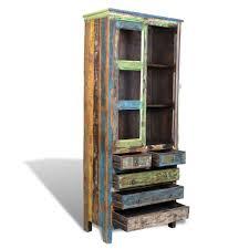 reclaimed wood bookshelf bookcase 5 drawers u0026 2 sales online