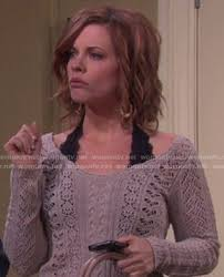 melanie days of our lives hair melanie s sweater with lace up back on days of our lives outfit