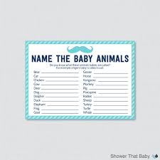 mustache baby shower baby animals name game printable