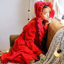 robe de chambre avec capuchon 7 couleurs en peluche robe adulte femmes à capuchon pyjamas à