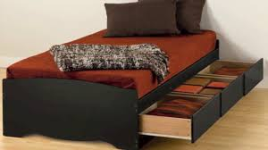 twin platform storage bed black twin xl mate u0027s platform storage bed with 3 drawers youtube