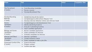 Strategic Planning Template Excel Recruitment Strategy Template Excel And Word Excel Tmp