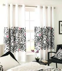 Black Floral Curtains Black And White Floral Curtains For Bedroom Curtain Gallery