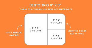 what fits in a lunchbots bento trio meal container
