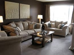 decorating ideas for living room with brown couch french style