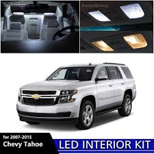 2007 Chevy Tahoe Ltz Interior 12pcs White Interior Led Interior Light Package Kit For 2007