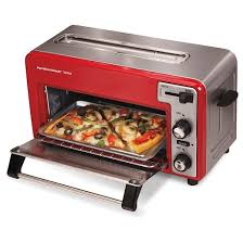 Portable Toaster Oven Hamilton Beach Toastation Toaster U0026 Oven Red 22722 Target