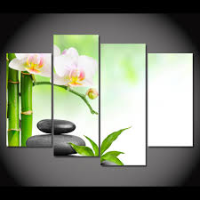 aliexpress com buy 4 panel canvas painting canvas art spa flower