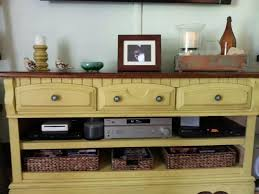 Shabby Chic Entertainment Center by Converting A Dresser Into An Entertainment Center Dresser Chalk