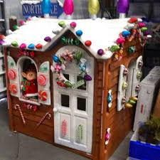 turn an plastic outdoor playhouse into a