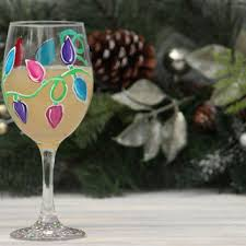 best christmas painted wine glasses products on wanelo