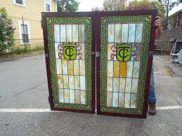 stained glass cupboard doors antique windows