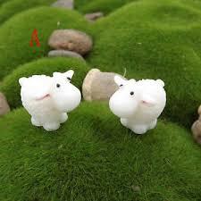 Sheep Home Decor 5pcs Mini Sheep Home Micro Garden Figurines Miniatures Home