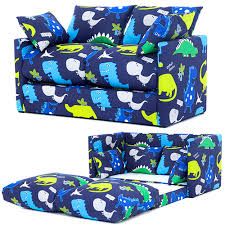 Kids Fold Out Sofa by Dinosaur In The Dark Print Children U0027s Bedroom Sofa Bed Fold Out