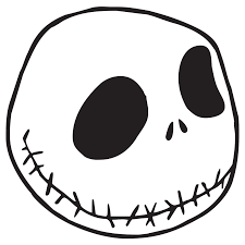 halloween face decals jack skellington die cut vinyl decal pv583