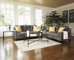 Grey Sofas In Living Room Forsan Nuvella Grey Sofa U0026 Loveseat 66902 35 38 Living