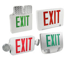exit emergency light combo emergency lighting