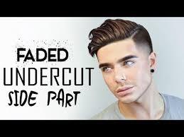 mens hairstyles undercut side part 2017 men s hairstyle faded undercut side part