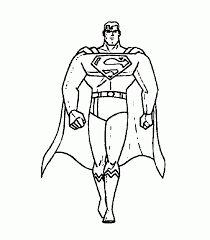 picture superman cartoon kids coloring