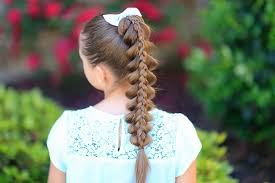 cute hairstyles pull through braid stacked pull through braid cute girls hairstyles