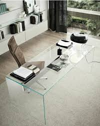 Office Glass Desk Glass Desk The Most Beautiful Accessory For Your Minimalist