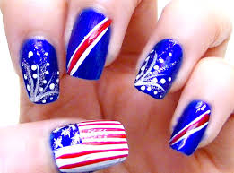 independence day fourth of july nail art tutorial youtube