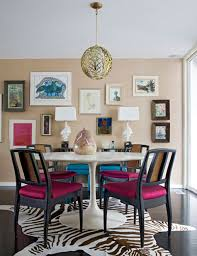 Zebra Dining Room Chairs by Glam Dining Room With Sand Grasscloth Wallpaper Eclectic Art