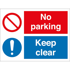 no parking keep clear signs from key signs uk