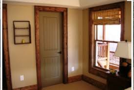 stained door casing u0026 white trim with hickory brown doors and oil