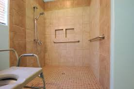 bathroom design with handicap roll in shower with roll in shower