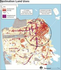 san francisco land use map some bike friendly sf neighborhoods ahead of the data shows