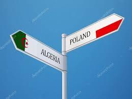 Algerian Flag Poland Algeria Sign Flags Concept U2014 Stock Photo Eabff 57039439