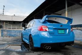 2016 subaru impreza hatchback blue 2016 subaru wrx sti series hyperblue review photo gallery news