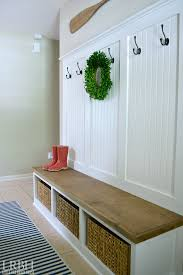 entryway bench with hooks and storage diy entryway bench diy entryway mudroom reveal mudroom bricks and house